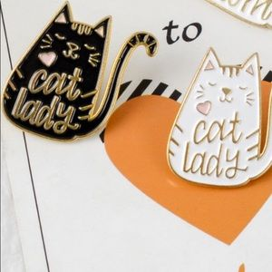 Cat Pin 🐾 Set Of 2 🐈 Brand New Cat Lady